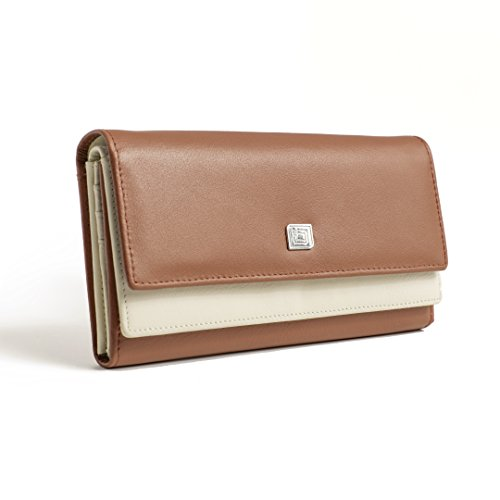ID Stronghold High Capacity Leather Womens Wallet - Gorgeous Soft Leather