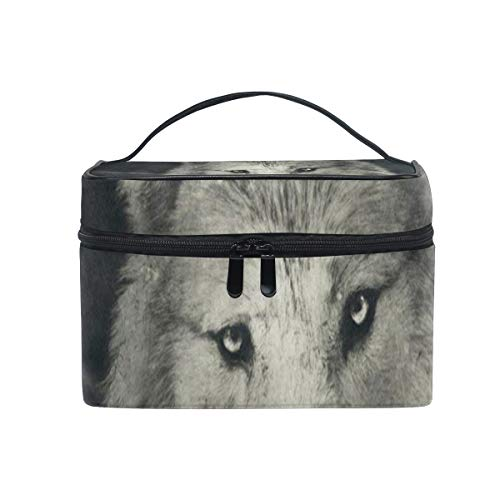 All agree Cosmetic Bag Halloween Night Wolf Womens Makeup Organizer Girls Toiletry Case Box Lazy Zip Bag