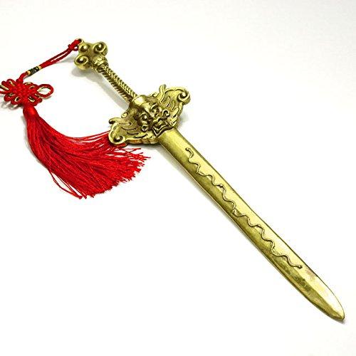 風水剣 七星剣 銅製 特大約39cm ( 七星刀 七星宝刀 龍剣 ドラゴン剣 風水アイテム 風水グッズ ) B06WRNWPY1