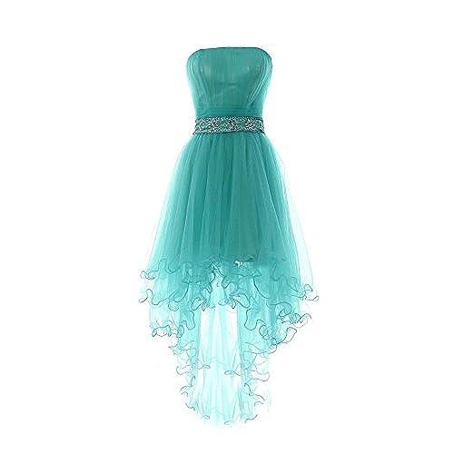 High Low Prom Dresses Turquoise: Amazon.com