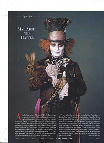 (Magazine Photo With Johnny Depp as The Mad Hatter In)