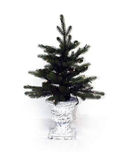 Boston Warehouse Martha Stewart Tabletop Artificial Pre-Lit Christmas Tree in Decorative Urn, 36 Inch, Clear Lights