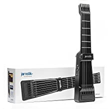Jamstik+ Black Portable App Enabled MIDI Electric Guitar, for Beginners and Music Creators, iOS, Android & Mac Compatible, with Bluetooth Connectivity, Powered by Zivix (Certified Refurbished)