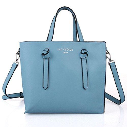 Red Bag Handbag Cuckoo Blue Tote Zipped Shopper Bag Womens Sky tqXwYZOT