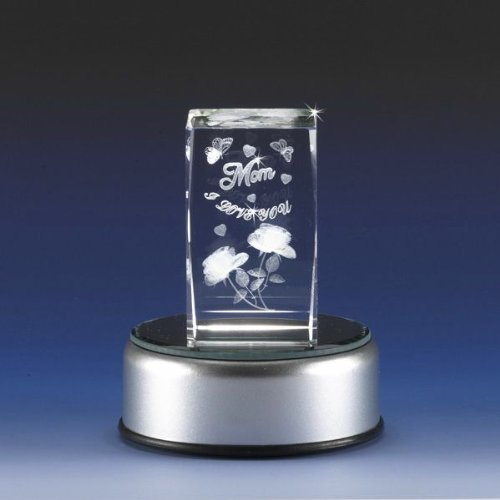 Mom Lighted Cube - 3d Laser Cube Etched Engraved Sentiment