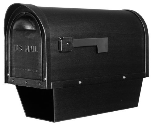 Classic Curbside Mailbox w Paper Tube (Black)