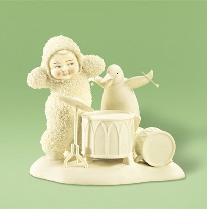 Dept 56 Snowbabies Give Me My Drumsticks Back Noise Music Penguin - Porcelain 4.00 IN