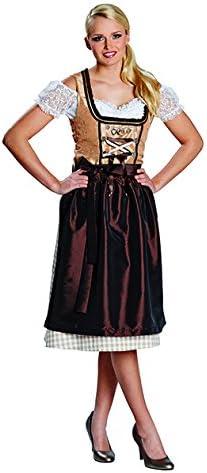 Disfraz tirolesa marrón Talla 36 – 44 – Vestido Traje Regional ...