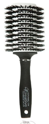 Creative Solid Barrel Thermal Infused Ceramic Oval All Bristle Snag Free Design Brushes - Oval Thermal