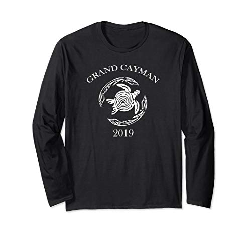 2019 Grand Cayman Vintage Tribal Turtle Gift Shirt ()
