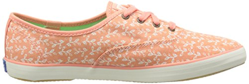 Keds Womens Champion Botanical-Leaves Fashion Sneaker Melon Pink m8ycuw