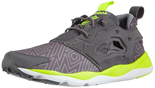 Reebok Furylite Herren Sneakers Grau (Shark/White/Solar Yellow/Flat Grey)
