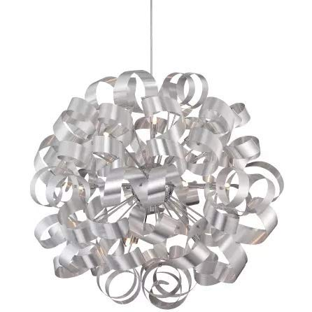 (Quoizel RBN2831MN Ribbons Curved Metal Foyer Pendant Ceiling Lighting, 12-Light, Xenon 480 Watts, Millenia (31