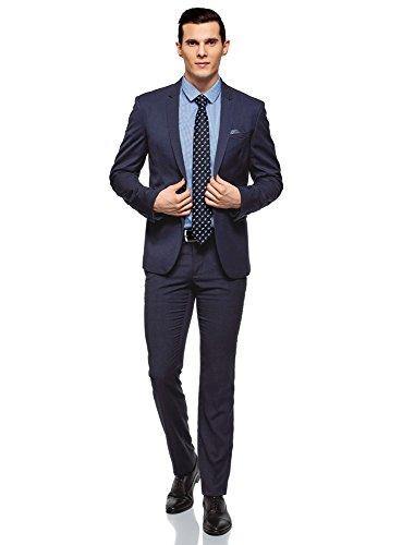 Poches Oodji Plaquées Bleu Veste Avec Ultra 7800o Homme Cintrée RaxwXprRq