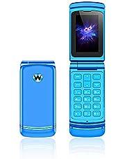 Ulcool F1 mini mobiltelefon super mini flip telefon 300 mAh batteri Bluetooth Dial Nano SIM 2G GSM mobiltelefon för studenter (blå)
