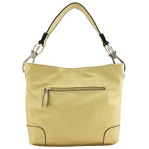 Hobo Shoulder Bag with Big Snap Hook Hardware (Gold) by Alyssa (Image #4)