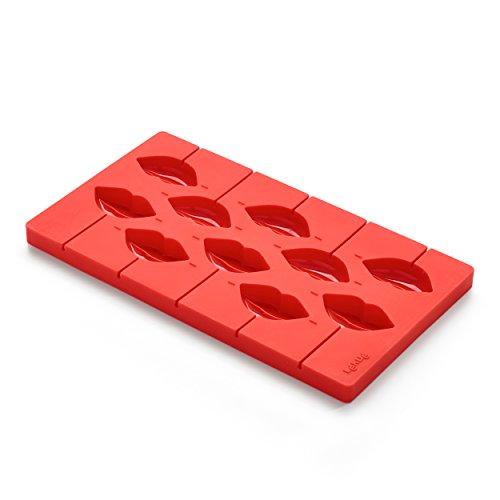 Lékué - Molde para piruletas, diseño de labios, color rojo: Amazon.es: Hogar
