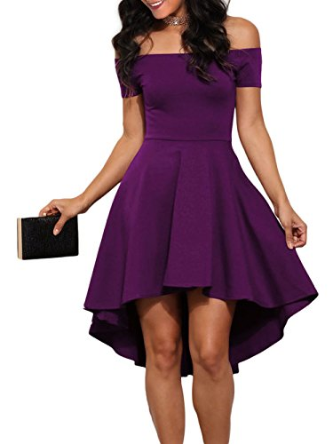 LOSRLY Womens Vintage Swing Over Off Shoulder Party Cocktail Dress Plus Size Lilic XXL 18 20