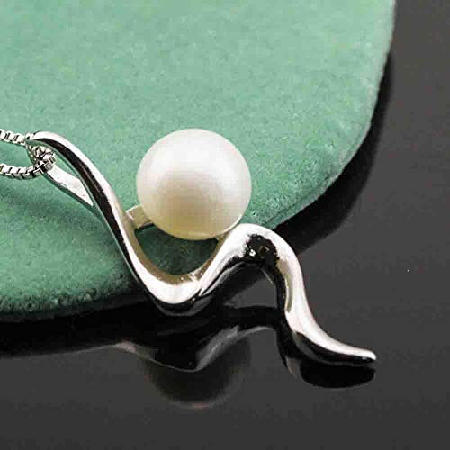 (Fashion Silver Pearl Silver Necklace Pendant Chain Jewelry Gift)