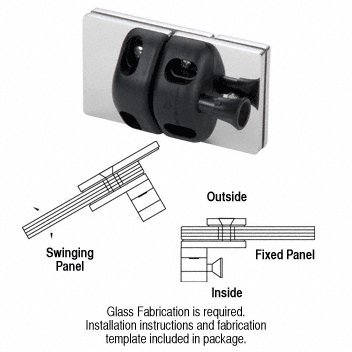 C.R. LAURENCE MLSP2PS CRL 316 Grade Polished Stainless 180 Degree Glass-to-Glass Gate Latch