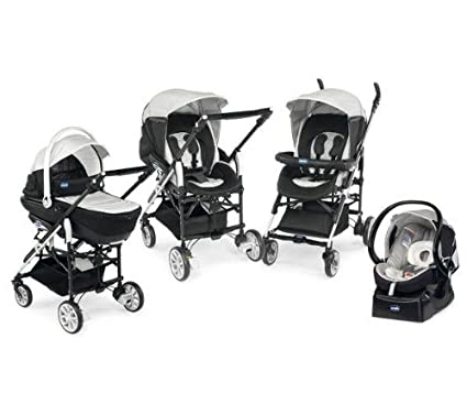 Chicco 79123430000 Trio Living - Carrito convertible (4 posiciones), color gris