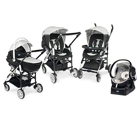Chicco 79123430000 Trio Living - Carrito convertible (4 posiciones), color gris: Amazon.es: Bebé