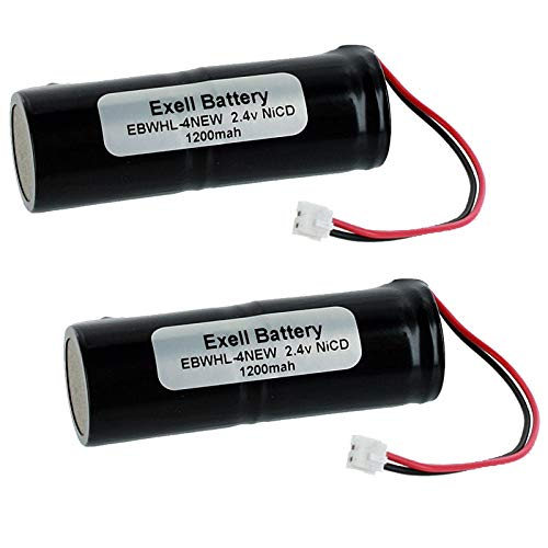 Exell 2.4V Razor Battery fits Wahl 93151 93151-001 Eclipse Clippers Replaces WHL-4NEW