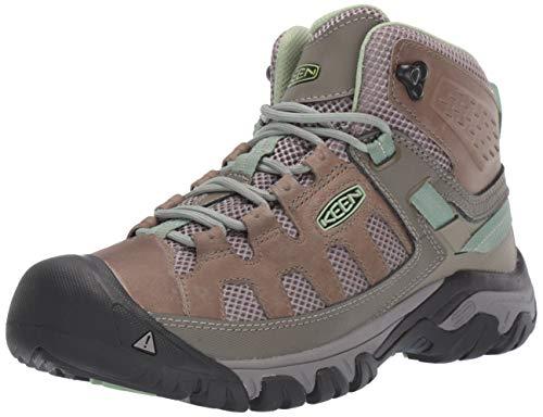 KEEN Women's Targhee Vent MID Hiking Boot, Fumo/Quiet Green, 7.5 M US ()