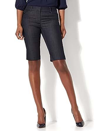 New York & Co. Women's 7Th Avenue - Bermuda Short - Signature - Hidden Blue 0