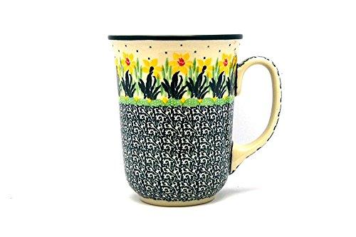 (Polish Pottery Mug - 16 oz. Bistro - Daffodil)