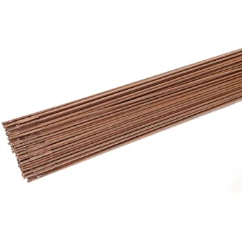 1//8-Inch-by-18-Inch 10-Rods Forney 42327 Copper Coated Brazing Rod