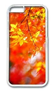 Adorable autumn maple tree foliage Hard Case Protective Shell Cell Phone Cover For Apple iphone 5c - PC Transparent