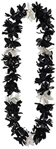 Silk 'N Petals Lotus Lei (black & white) Party Accessory  (1 count)
