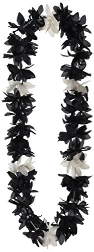 Silk 'N Petals Lotus Lei (black & white) Party Accessory  (1 count)]()