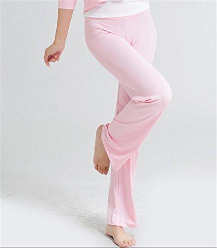 Danse Femme Pantalons Formation Peiwen Yoga pantalons De Confortables pantalon Survêtement Pink YaBqwfq