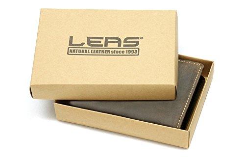 Biker Portafoglio con catena ottone per Uomo e Donna formato verticale (compresa confezione regalo di LEAS) LEAS, Vera Pelle, marrone - ''LEAS Vintage-Collection''