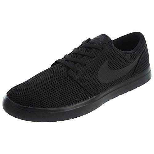 Nike Mens SB Portmore Ultralight CN Lightweight Athletic Skateboarding Shoes (9.5 M US, Black/Black-Anthracite) ()