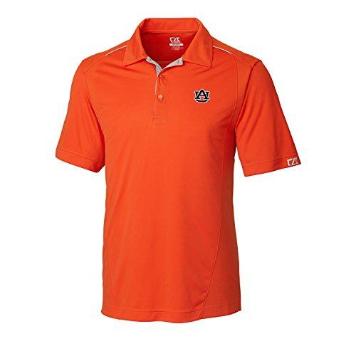 NCAA Men's CB Dry Tec Foss Hybrid Polo,Auburn Tigers,College Orange,Medium