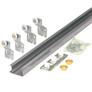 Closet Door Track (Slide-Co 161792 Bi-Pass Closet Track Kit (2 Door Hardware Pack), 60