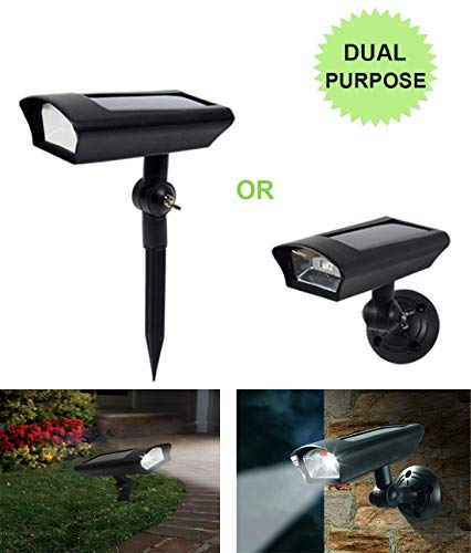Solar LED Lawn Light Outdoor Motion Sensor Dusk to Dawn Fake Dummy Camera for Garden Ground Path Porch Wall Security Dual Use Wireless Waterproof Pack of 1 by Gather sun (Image #2)