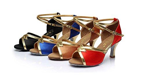 des de salon de à femmes Taille Rouge de Plaza amp; mou les de chaussures chaussures danse Avec 37 dans hauts chaussures chaussures danse de talons latine Color Marron danse fond adultes TMKOO R1BvSq