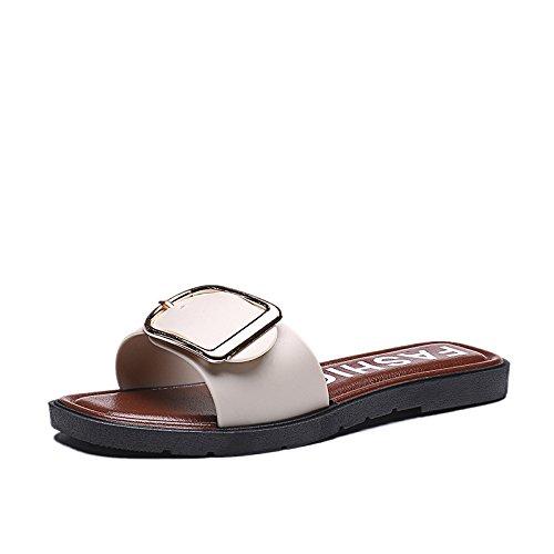 ZPPZZP Ms sandali confortevole e di stile minimalista leisure bianco 36EU