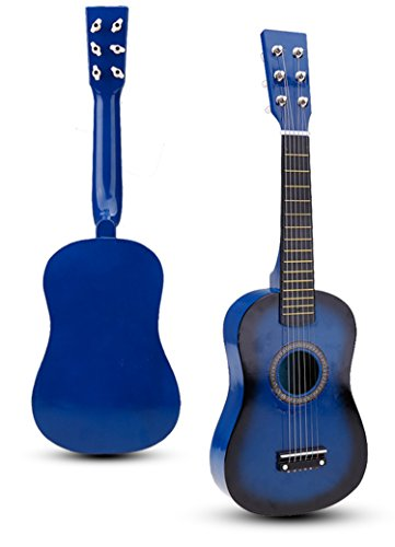 Cnlinkco Children Kids Toy 23'' Beginners Practice Acoustic Mini 6 String Guitar Musical Instruments
