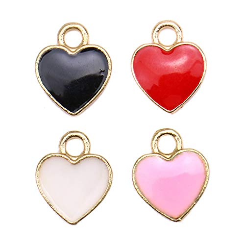 - Monrocco 40Pcs New Cute Assorted Tiny Love Heart Charms Pendants for Making Bracelet Necklace