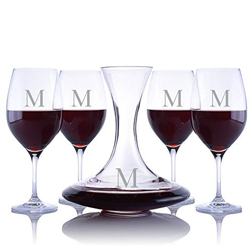 Ravenscroft Crystal Infinity Wine Decanter Set Personalized with Engraving (5-Piece Set)
