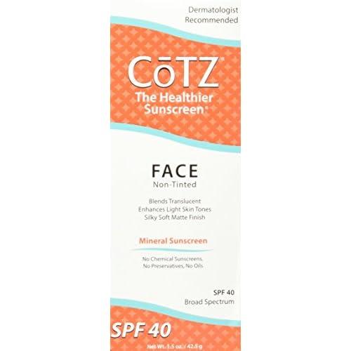 Cotz Face Sunscreen For Lighter Skin Tones, Spf 40 - 1.5 Oz, 6 Pack Ponds Moisture Clean Towelettes Luminous Clean 28 ct