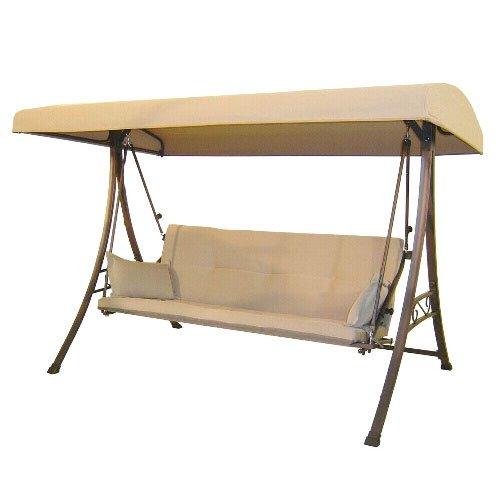 Garden Winds 3-Person Futon Swing Replacement Canopy - RipLock (Patio Swing Walmart)