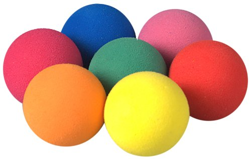 Efco 20 mm Foam Rubber Balls, Set of 7, Assorted Colours 10 557 01
