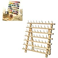 Creafirm. Vitrina porta carretes de madera para costura