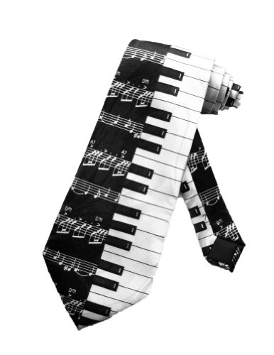 Steven Harris Mens Piano Keys Necktie - Black and White - One Size Neck -